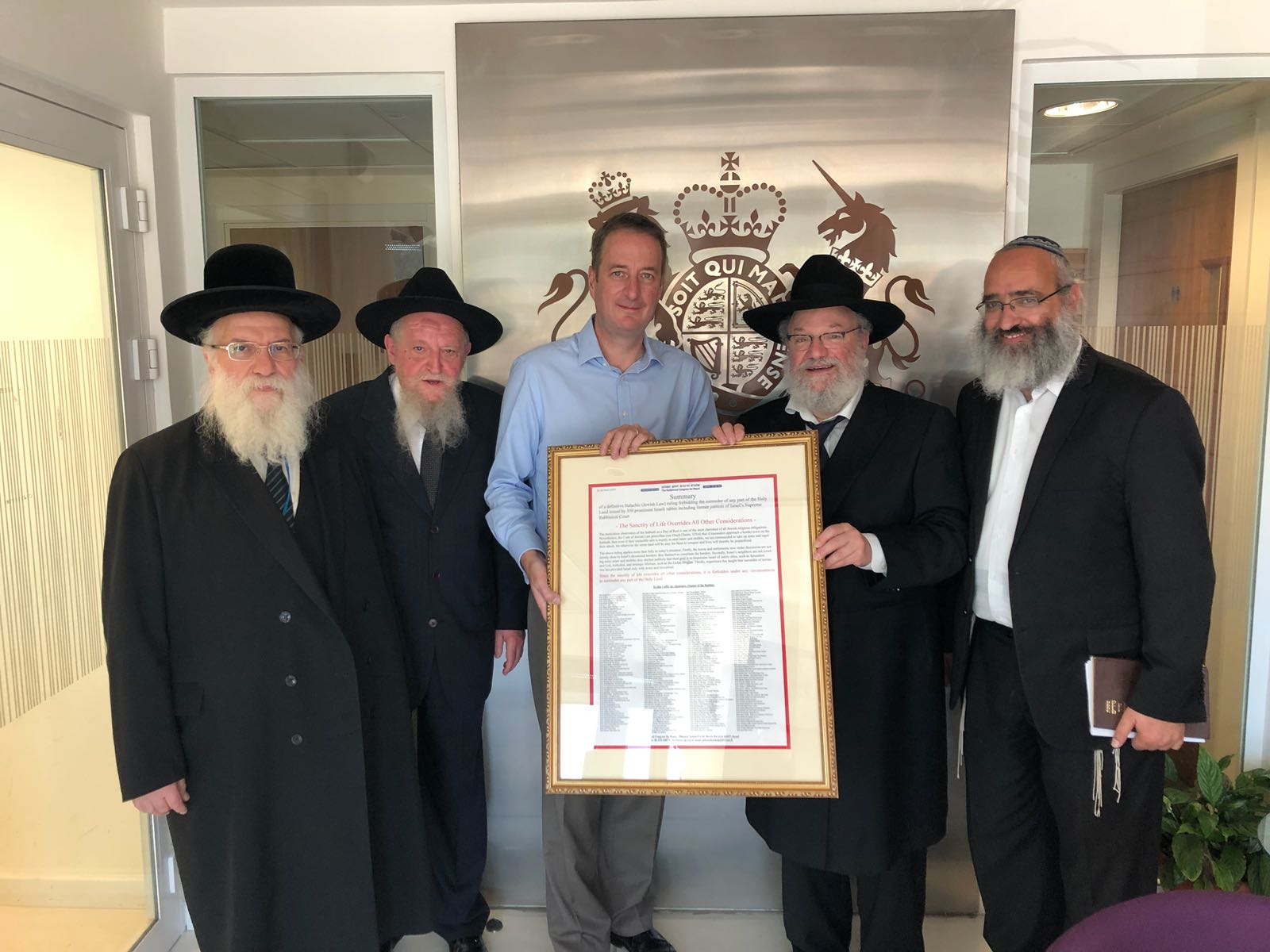 """We must change our approach"""" – Rabbis of the Rabbinical Congress for Peace (RCP)  meet with ambassadors of world powers"""