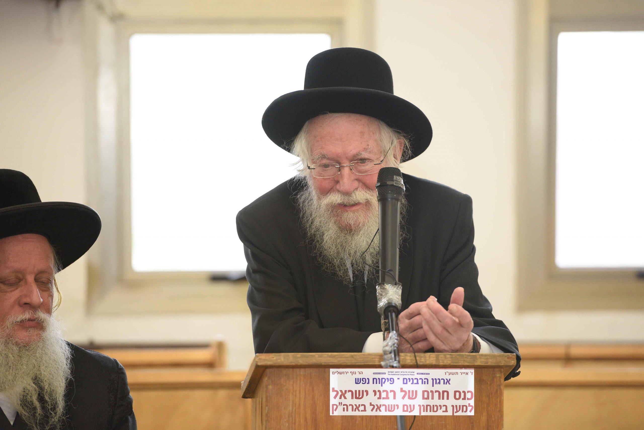 """הגאון הרב זלמן נחמיה גולדברג זצ""""ל: """"בנושא המאבק על ארץ ישראל עלינו לנהוג בדיוק כפי שנהג הרבי!"""""""